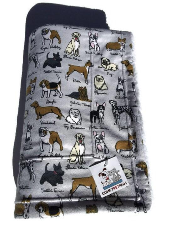 Grey Dog Blanket with AKC Breeds