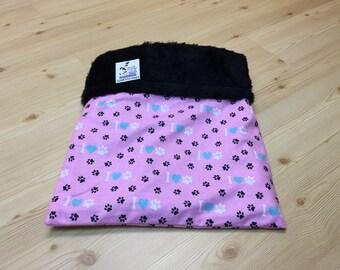 Dog Snuggle Sack, Guinea Pig Bed, Small Dog, Rabbit Burrow Bag, Washable, Size 15x15