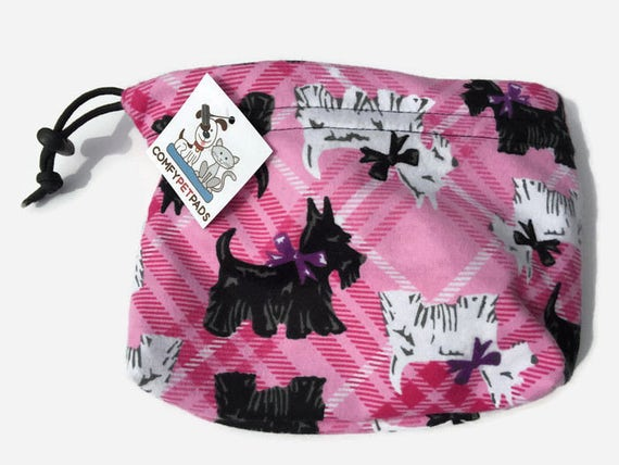 Pink Pet Pouch, Scotty Dogs, Small Project Bag, Make Up Bag, Scottish Terrier, Scotty Gifts, Training Pouch, Dog Bag, Craft Bag, Make Up Bag