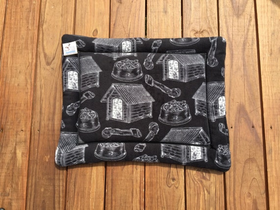Washable Crate Pad, Pet Stroller Bed, Dog Training Mat, Small Crate Bedding, Pet Lover Gifts, Small Dog Bed, 19x25