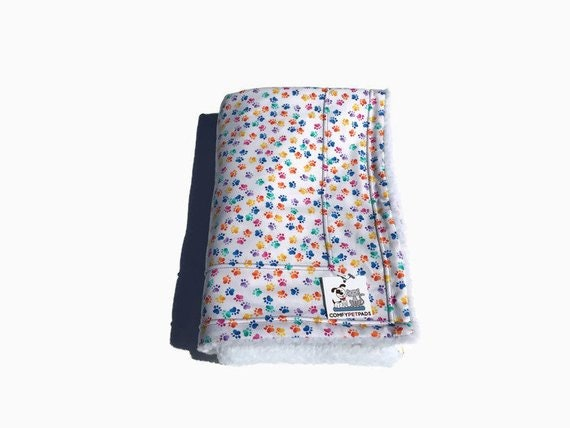 Dog Blanket, Blanket with Rainbow Paw Prints, Baby Shower Gifts, Washable, Size 39x29