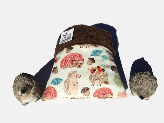Snuggle Sack for Hedgehogs, Small Animal Bedding, 3 layers, Size 9x9