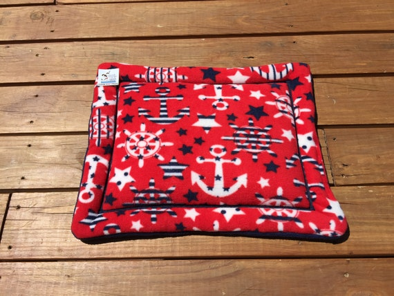 Nautical Dog Bed, Crate Pad, Stroller Pet Bed, Cat Bedding, Kennel Liner, Cat Mat, Tiny Crate Pad, XS