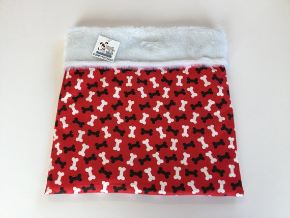 Red Snuggle Sack, Burrow Bag, Cuddle Bag, Made in Colorado, Doxie Bed Warmer, Wiener Dog Bed, Bed Warmer, Chihuahua Sack, Doxie Cave, SSM