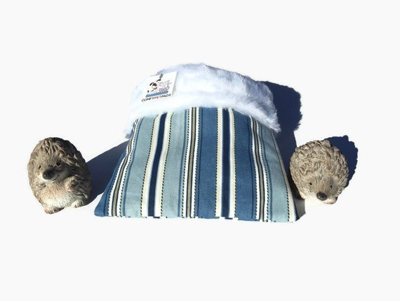 Snuggle Sack for Small Reptiles, Hedgehogs, Bearded Dragons or Guinea Pigs, Faux Fur, 3 layers, Washable, Size 9x9