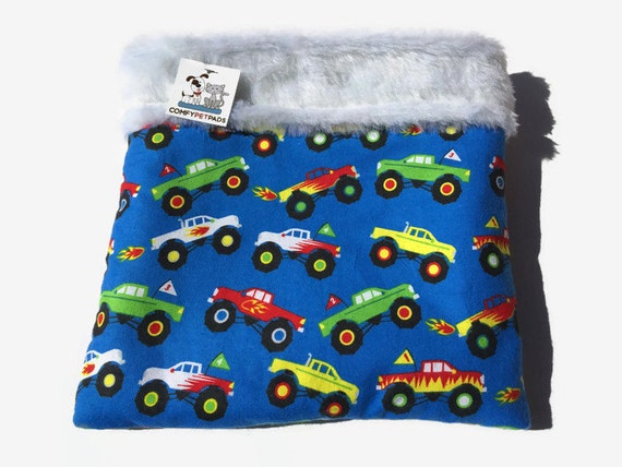 Monster Truck Snuggle Sack, Guinea Pig Bed, Cage Accessories, Pocket Dog Pouch, Chihuahua Bedding, Burrow Bag, Cuddle Cup, Hamster Cave, SSM