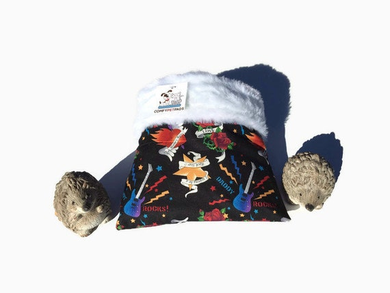Snuggle Sack for Small Reptiles, Hedgehogs, Faux Fur, 3 layers, Washable, Size 9x9
