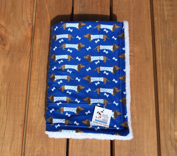 Blanket with Dachshunds, Size 39x29, Washable