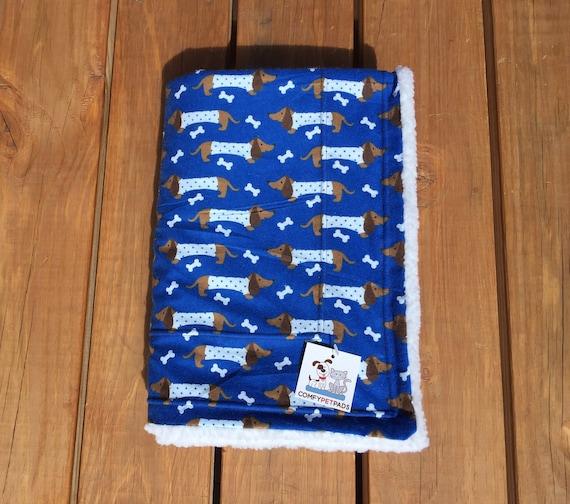 Blanket with Dachshunds, Dog Blanket, Size 39x29, Washable