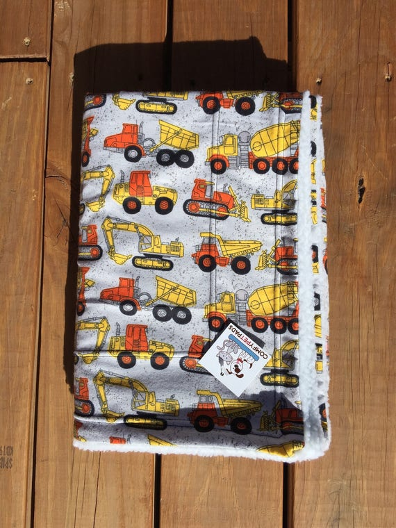 Dump Truck Blanket, Little Boy Gifts, Backhoe, Construction Equipment, Mining Trucks, Backhoe, Puppy Bedding, Baby Blanket, Car Blanket