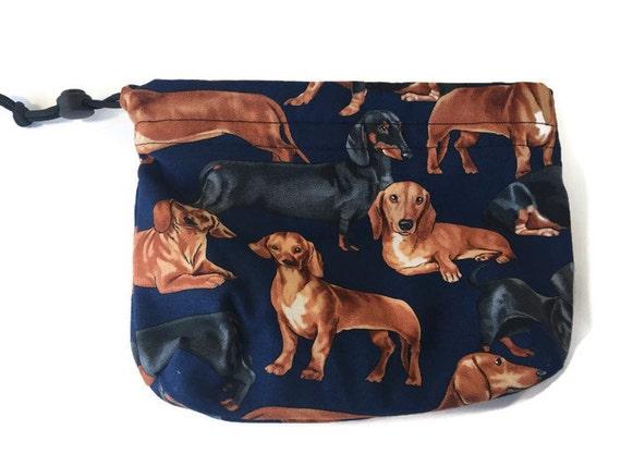 Dachshund Bag, Dog Treat Bag, Dachshund Gifts, Doxie Gift Made in Colorado, Dog Leash Bag, Gymnastics Bags, Pet Accessories, Weenie Dog Gift