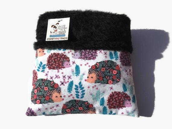 Hedgehog Snuggle Sack in floral pattern, 3 layers