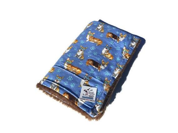 Blanket with Corgis, Washable, Size 39x29