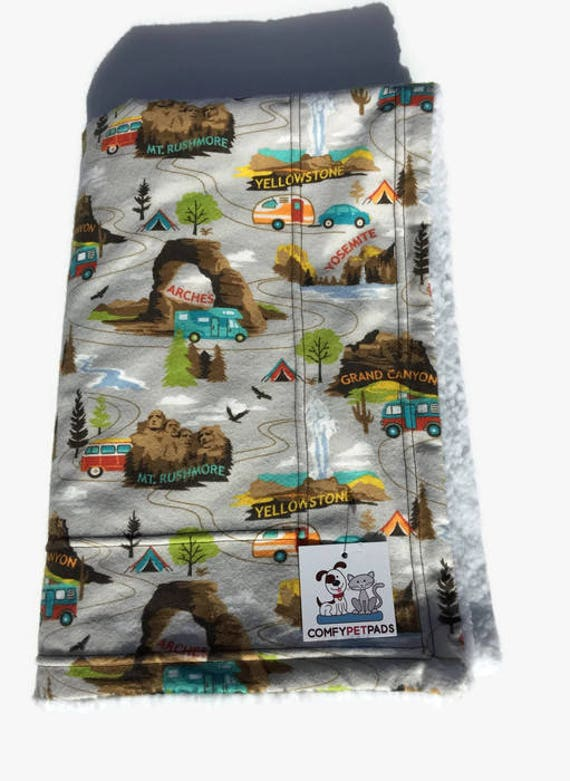 National Parks Blanket, Camping Gifts, Little Boy Gifts, US National Parks, Camping Birthday Party, Stroller Blanket, Puppy Bedding