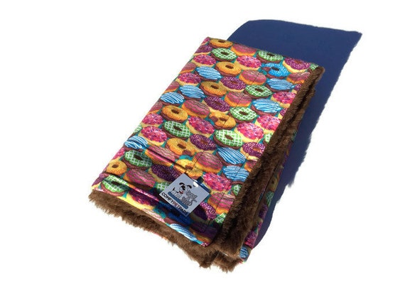 Blanket with Donuts, Pet Stroller Bed, Dog Crate Bedding, Size 39x29, Washable