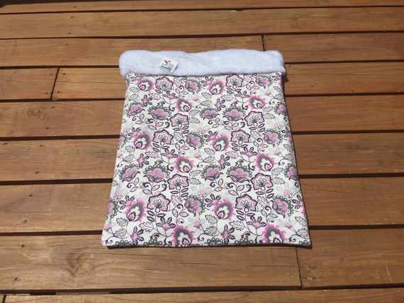 Floral Snuggle Sack with Faux Fur, Washable, Size 20x25, SSL