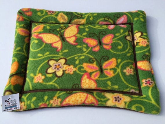 Dog Crate Pad with Butterflies, Cat Bedding, XS