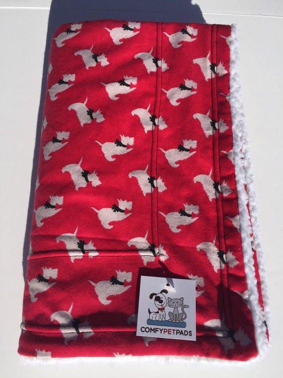 Red Scottie Dog Blanket