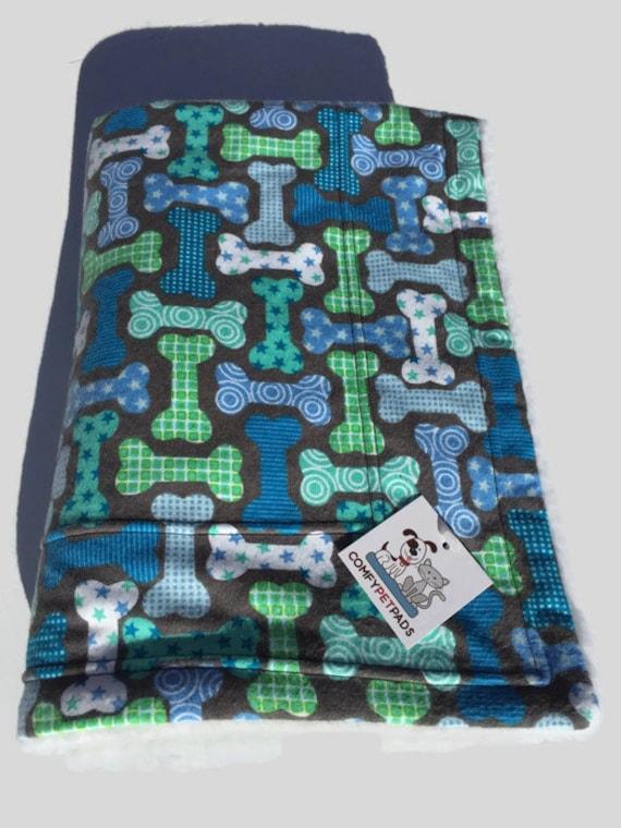 Blue Blanket with Dog Bones, Size 39x29