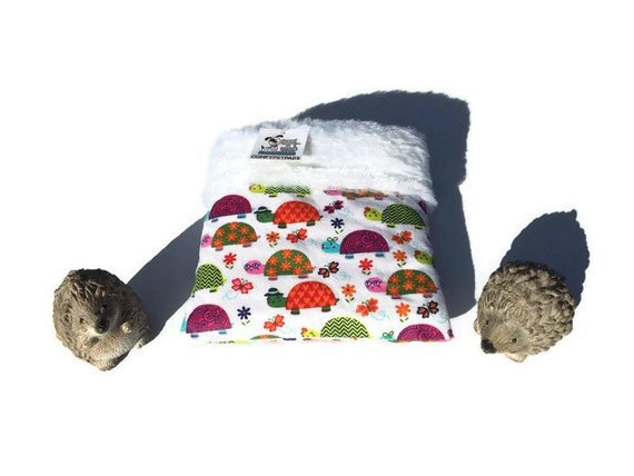 Snuggle Sack with Turtles, Skinny Guinea Pig Bedding or other small pets, 3 layers