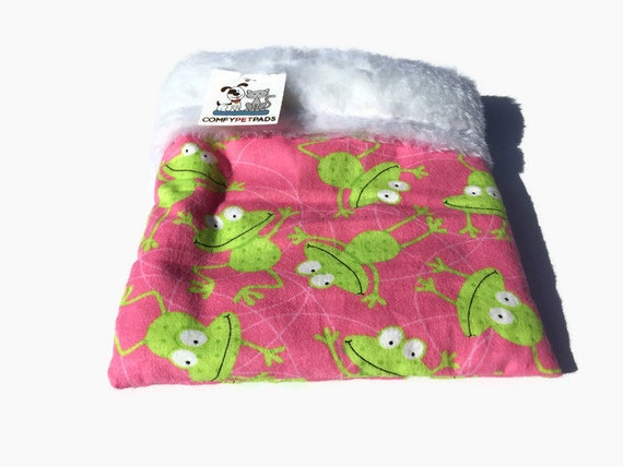 Pink Snuggle Sack with Faux Fur, Carrier Pouch, Size 9x9, Washable, 3 Layers