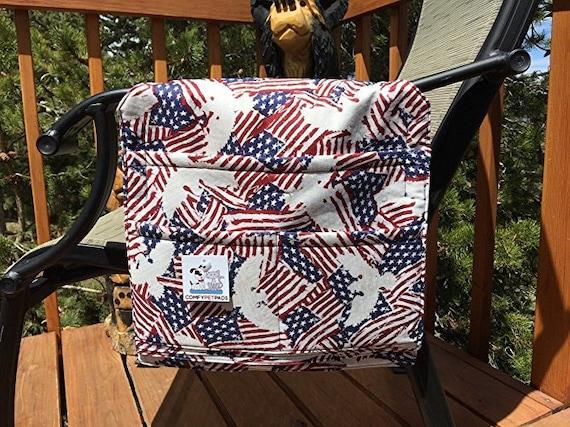 Walker Bag, Elderly Gifts, American Flag, Chair Caddy, Patriotic Walker Bag, 4 of July Gifts, Size 13x13