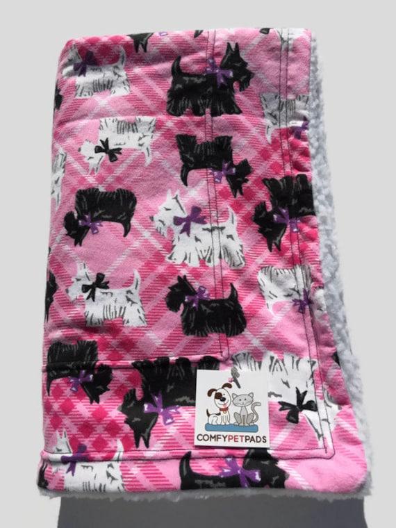 Scottish Terrier Blanket in Pink