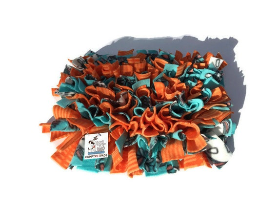 Snuffle Mat, Pig Rooting Rug, Dog Food Stimulation Toy, Finished size 16x12, Washable