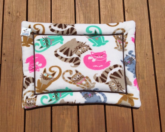 Cat Bed, Window Pad for Cats, Kitten Bed, Small Kennel Pad, Pink Cats, Pet Chair Cushion, Small Crate Mat, Kennel Pad, Washable, 19x25