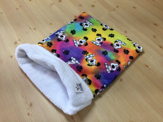 Snuggle Sack for Dogs, Cat Sleeping Bag, Cat Burrow Bag, Sphynx Bedding, Washable, Size 28x20 uncuffed