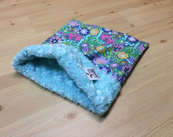 Cat Snuggle Sack, Guinea Pig Pouch, Small Dog Bed, Rabbit Burrow Bag, Sleeping Bag, Washable, Size 15x15