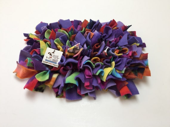 Snuffle Mat, Mini Pig Enrichment Toy, Nose Work Mat, Rooting Rug, Finished size 16x12