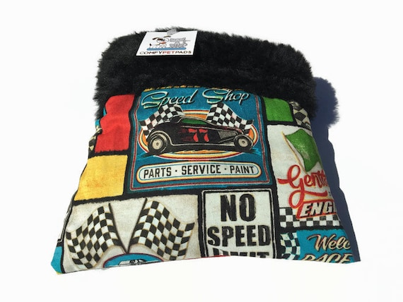 Speedway Race Car Snuggle Sack, Small Animal Bedding, Hedgehog Bedding, Cuddle Bag, Sugar Glider Pouch, Cozy Cave, Bonding Bag