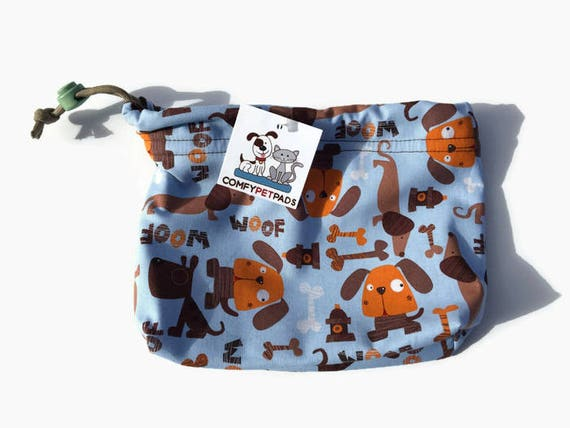 Dog Pouch, Drawstring Leash Bag, Cell Phone Holder, Make Up Bag, Treat Bag, Craft Bag, Training Treat Pouch, Toy Bag, Gymnastics Grip Bags