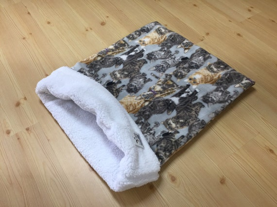 Cat Snuggle Sack, Dog Snuggle Sack, Cat Sleeping Bag, Dog Lover Gifts, Pet Burrow Bag, Sphynx Bedding, Washable, Size 28x20 uncuffed