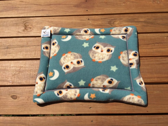 Cat Mat, Stroller Pet Pad, Dog Bed with Owls, Cat Chair Cover, Carrier Pad, Puppy Bedding, Kennel Liner, XS