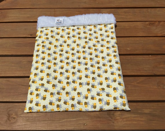 Bumble Bee Burrow Bag, Snuggle Sack, Guinea Pig Bed, Cat Bed Cave, Small Dachshund Bed, Pocket Bed, Weenie Dog, Pet Bed Warmer, SSL