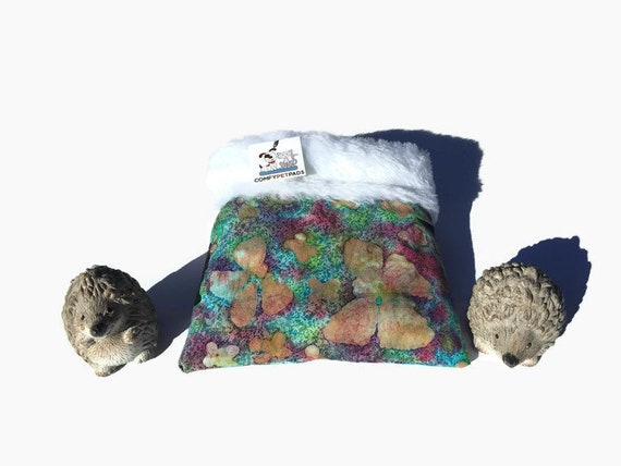 Snuggle Sack with Faux Fur, Guinea Pig Bed, Hedgehog, 3 layers, Washable, Size 9x9