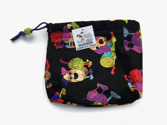Funky Dog Pouch, Colorful Bags, Dog Leash Bag, Treat Bag, Gifts Under 10, Gymnastics Bags, Pet Accessories, Bright Dogs, Made in Colorado
