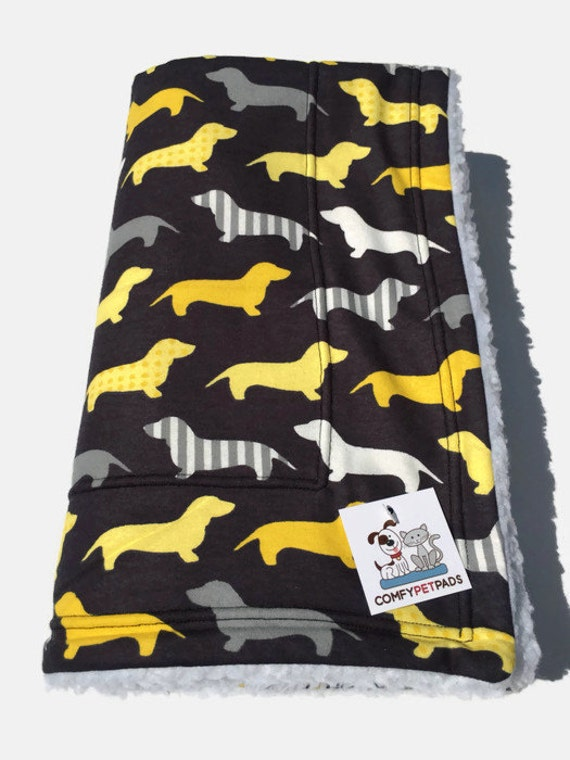 Dog Blanket with Dachshunds, Size 39x29
