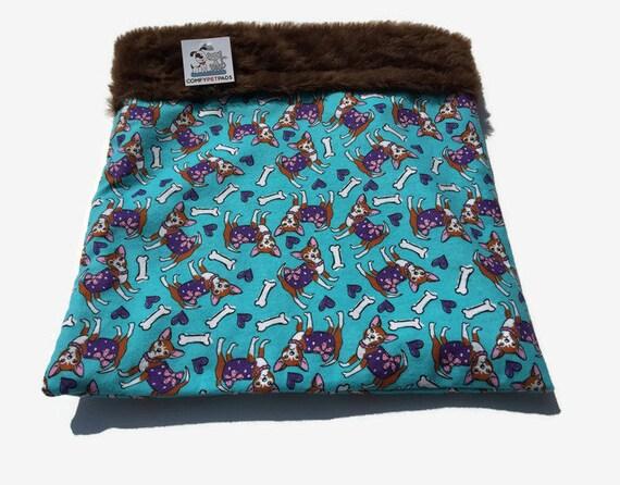 Chihuahua Burrow Bag, Snuggle Sack, Bed Warmer, Cuddle Bag, Dog Sleeping Bag, Pet Bed Warmer, Chihuahua Sack, Pocket Bed, Small Dog Bed, SSM