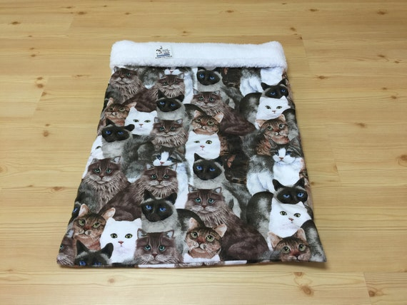 Cat Snuggle Sack, Kitten Bedding, Luxe Cuddle Sherpa