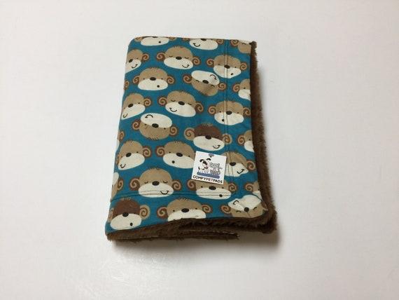 Blanket with Monkeys, Dog Blanket, Dog Bedding, Little Boy Blanket, Crate Liner, Kennel Cover, Washable, Size 39x29