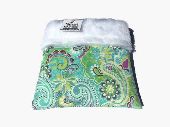 Hedgehog Accessories, Paisley Snuggle Sack, Small Animal Bedding, Size 9x9 and Easy to Clean