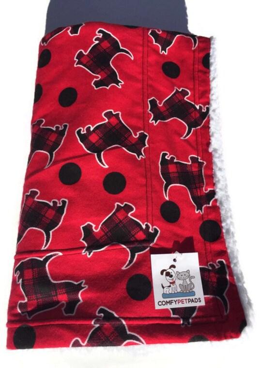 Scottie Dog Blanket, Crate Bedding, Red Blanket, Couch Throw, Scottish Terrier Fabric, Scottie Dog Gifts, Puppy Blanket, Wheelchair Throw
