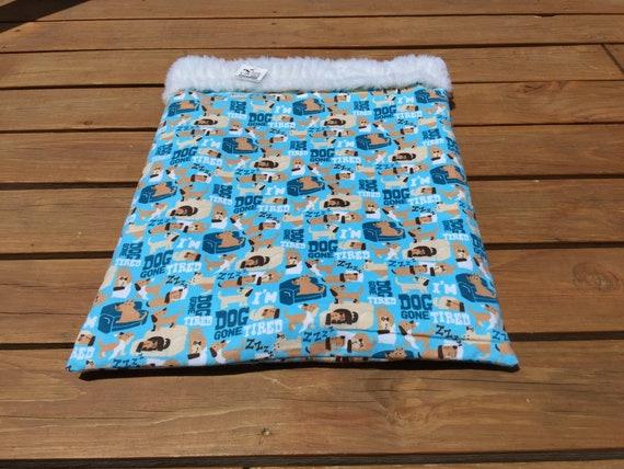 Blue Snuggle Sack, Faux Fur, Washable, Size 20x25, SSL