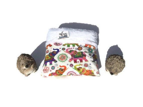 Hedgehog Snuggle Sack, Skinny Guinea Pig Bed, 3 Layers, Washable
