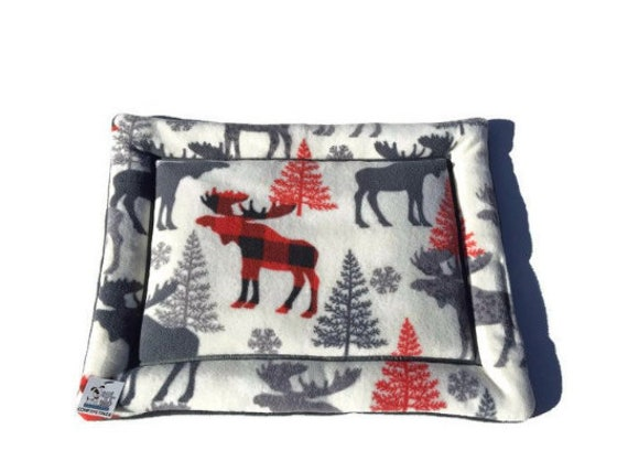 Small Cat Mat, Crate Bed for Dogs, Pet Stroller Bedding, Puppy Training Mat, Lodge Decor, Kennel Liner, Cabin Decor, Size 19x25