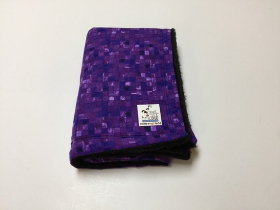 Purple Dog Blanket, Cat Bedding, Pet Stroller Cover, Toddler Nap Blanket, Nursery Decor, Couch Throw, Cage Accessories, Washable, Size 39x29