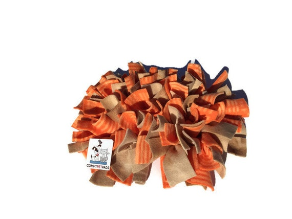 Snuffle Mat for Small Dogs, Pig Enrichment Toy, Nose Work Mat, Guinea Pig Toy, Dog Puzzle, Rooting Rug, Finished Size 12x10, Washable